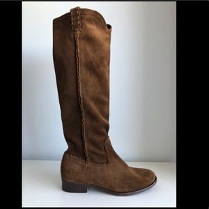 FRYE CARA SUEDE LEATHER KNEE HIGH BOOTS
